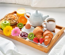 Delicious breakfast in the tray Stock Photo 02
