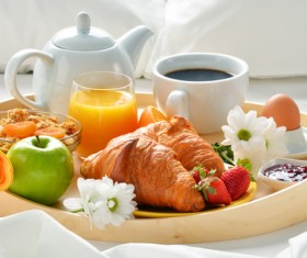 Delicious breakfast in the tray Stock Photo 03