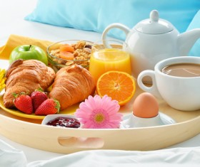 Delicious breakfast in the tray Stock Photo 04