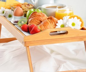 Delicious breakfast in the tray Stock Photo 06