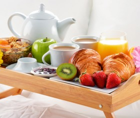Delicious breakfast in the tray Stock Photo 07