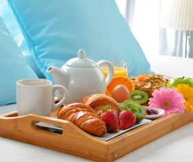 Delicious breakfast in the tray Stock Photo 08