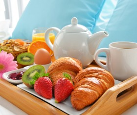 Delicious breakfast in the tray Stock Photo 09