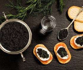 Delicious caviar Stock Photo 09