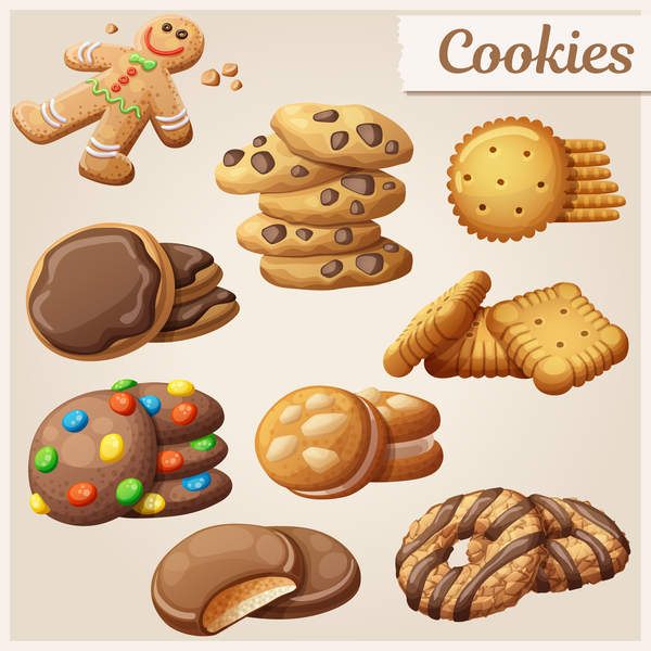 Different Cookie Vector 02 Free Download