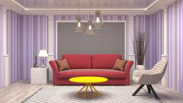 Different Styles Of Stylish Indoor Living Room Stock Photo 03