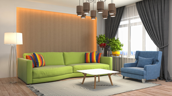 Different styles of stylish indoor living room Stock Photo 11