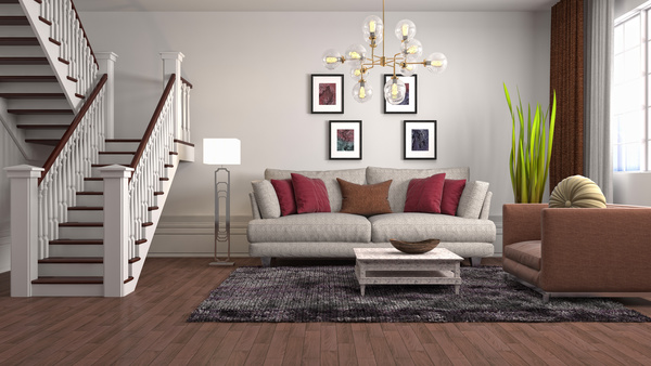 Different styles of stylish indoor living room Stock Photo 13