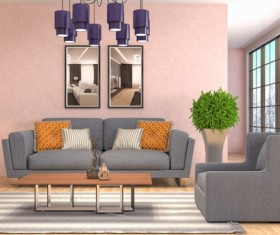 Different styles of stylish indoor living room Stock Photo 17