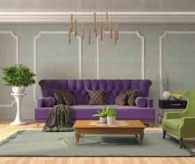 Different styles of stylish indoor living room Stock Photo 18