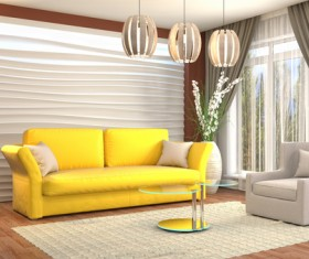 Different styles of stylish indoor living room Stock Photo 19