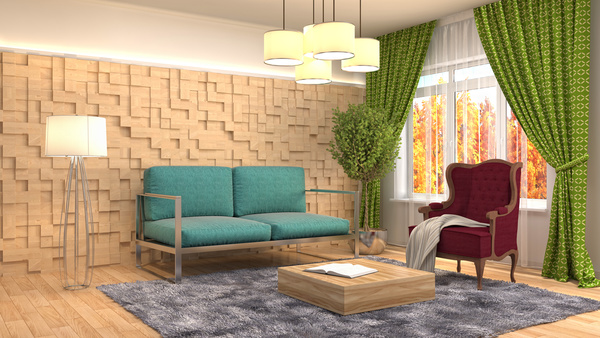 Different styles of stylish indoor living room Stock Photo 20