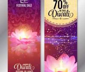 Diwali festival discount banners vector 01