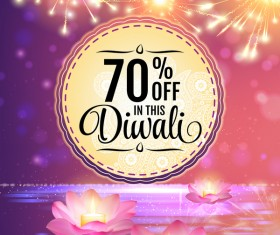 Diwali festival sale discount background vector 01