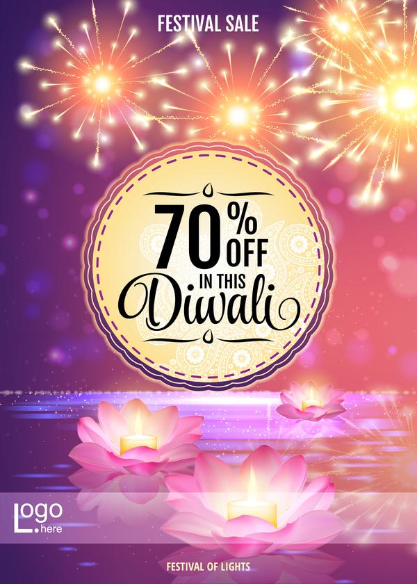 Diwali festival sale discount background vector 01