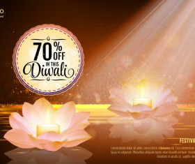 Diwali festival sale discount background vector 02