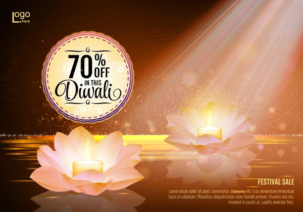 Diwali festival sale discount background vector 02