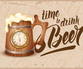 Drink beer vector background
