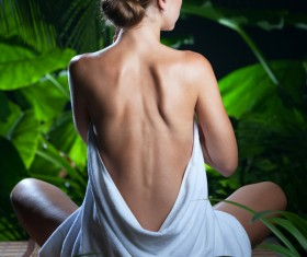 Enjoy a massage and aromatherapy woman Stock Photo 01