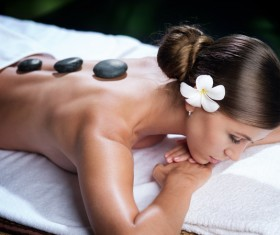 Enjoy a massage and aromatherapy woman Stock Photo 06