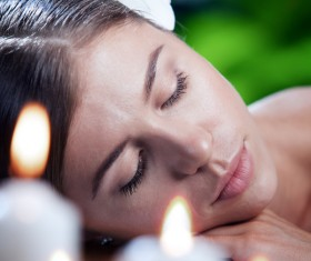 Enjoy a massage and aromatherapy woman Stock Photo 07