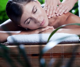 Enjoy a massage and aromatherapy woman Stock Photo 08