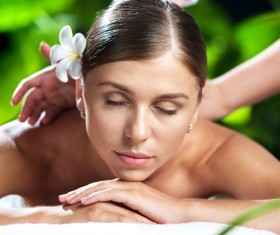 Enjoy a massage and aromatherapy woman Stock Photo 09