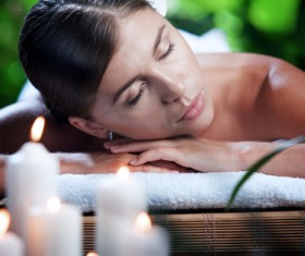 Enjoy a massage and aromatherapy woman Stock Photo 10