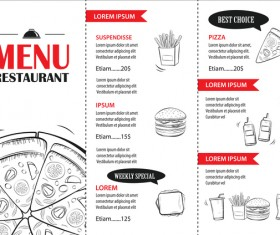 Fast food restaurant menu vectors 01