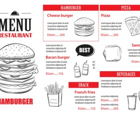Fast food restaurant menu vectors 02