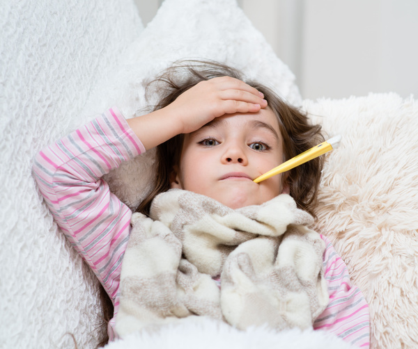 Fever and cold children Stock Photo 02