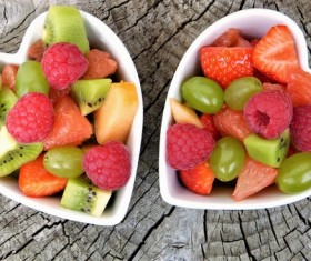Fresh fruit in the bowl Stock Photo