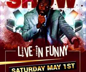 Funny Comedy Show Flyer Psd Template