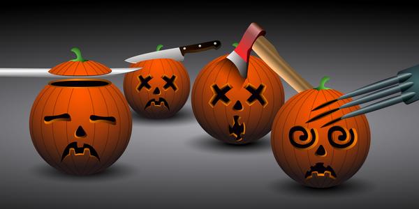 Funny halloween pumpkin vector set - Vector Halloween free download