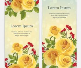 Golden rose banner template vector 01