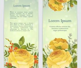 Golden rose banner template vector 02