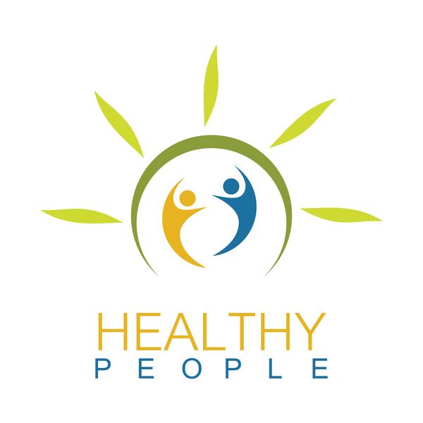 Green health people logo vector