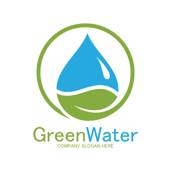 Green water logo vector