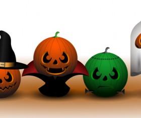 Halloween Pumpkin Ghosts vector material