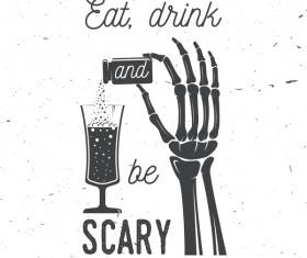 Halloween drink background vector