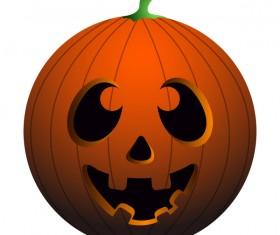 Halloween pumpkin head vector illustration 01