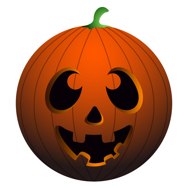 Halloween pumpkin head vector illustration 01