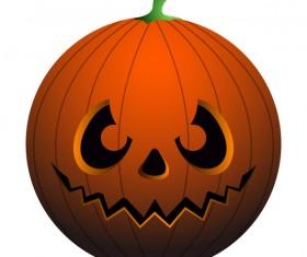 Halloween pumpkin head vector illustration 02