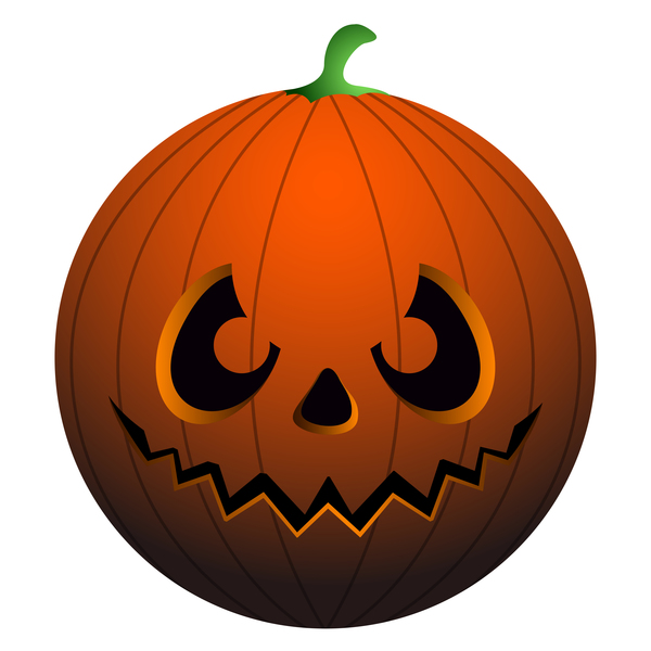 Halloween pumpkin head vector illustration 02