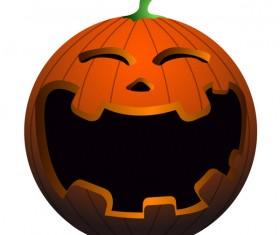 Halloween pumpkin head vector illustration 03