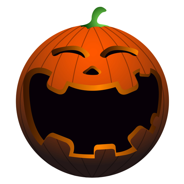Halloween pumpkin head vector illustration 03