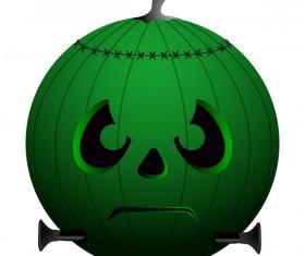 Halloween pumpkin head vector illustration 04