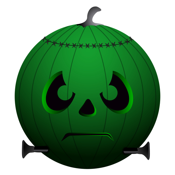 Halloween pumpkin head vector illustration 04