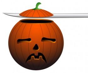 Halloween pumpkin head vector illustration 05