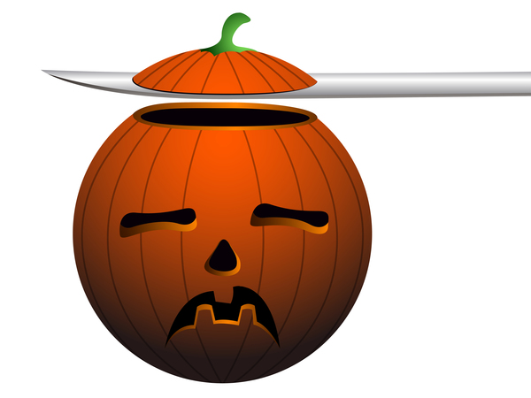 Halloween pumpkin head vector illustration 05